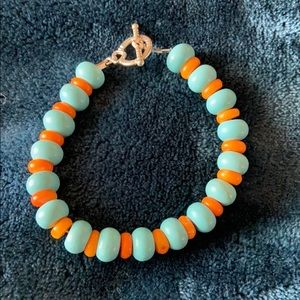 Jewelry - Turquoise and Orange coral bracelet